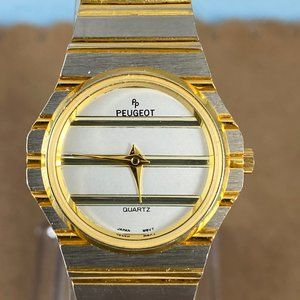 Vintage Peugeot Two Tone Gold and Silver Watch